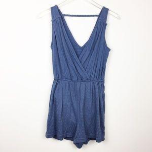 Universal Thread | Blue Sleeveless Textured Romper